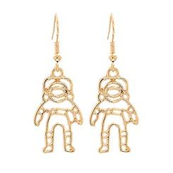 Mode kreative Astronauten Sternlegierung Ohrringe Großhandel NHJJ345738