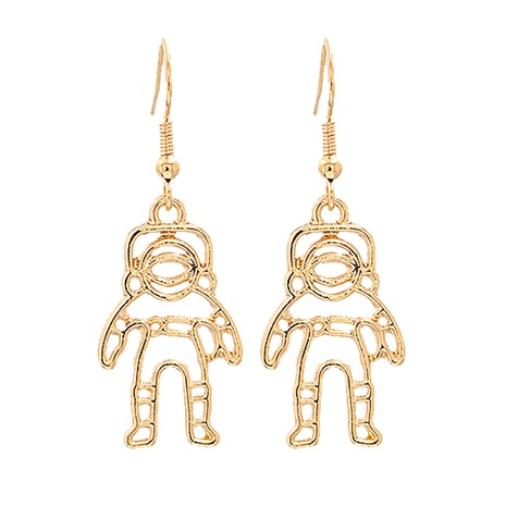Fashion creative astronaut star alloy earrings wholesale NHJJ345738's discount tags