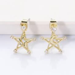 Mode Metall kreative geometrische Pentagramm Ohrringe NHJJ345739