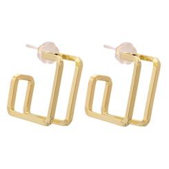Mode Metall kreative geometrische quadratische Ohrringe NHJJ345743