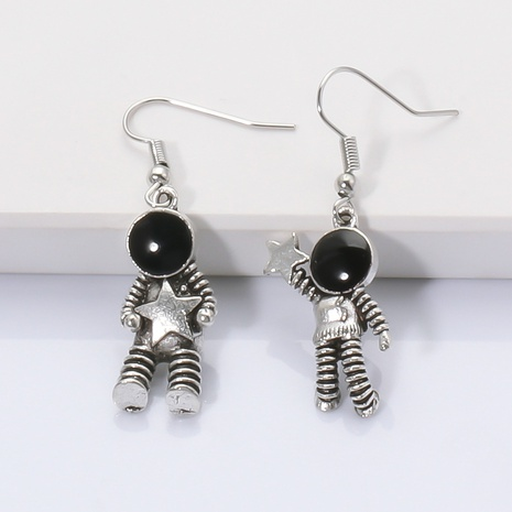 Fashion creative spaceman astronaut star alloy earrings wholesale NHJJ345744's discount tags