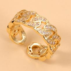 Mode geometrischen Zirkon Ring Großhandel NHJJ345742