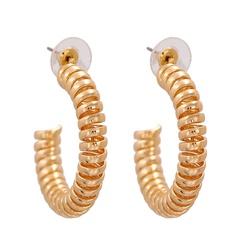 Mode Metall Kreis C-förmige Legierung Ohrringe Großhandel NHJJ345746