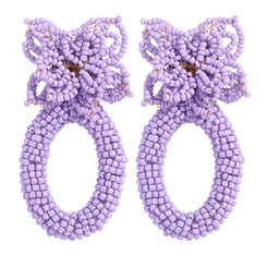 Großhandel Retro geometrische Perlen handgewebte Ohrringe NHJQ345751