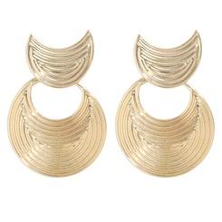 Großhandel einfache mehrschichtige Textur halbmondförmige Ohrringe NHJQ345756