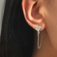 Mode herzförmige Quaste Kette Legierung Ohrringe Großhandel NHDP345758