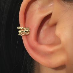 Mode mehrschichtige Perlenkette C-förmige Ohrringe Großhandel NHDP345767