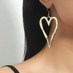 Großhandel Mode unregelmäßige Herzlegierung Ohrringe NHDP345769
