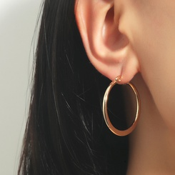 einfache große Kreis Edelstahl Ohrringe Großhandel NHDP345773