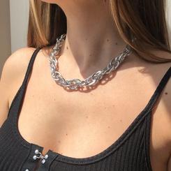 Mode geometrische dicke Kette Legierung Halskette Großhandel NHMD345785