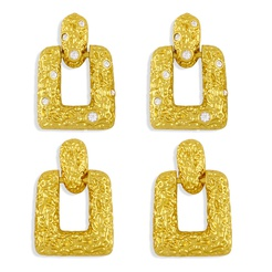 Mode Lava Falte geometrische Kupfer eingelegte Zirkon Ohrringe Großhandel NHAS345801