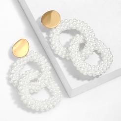 Mode handgemachte Miyuki Perlen runde Legierung Ohrringe Großhandel NHAS345804