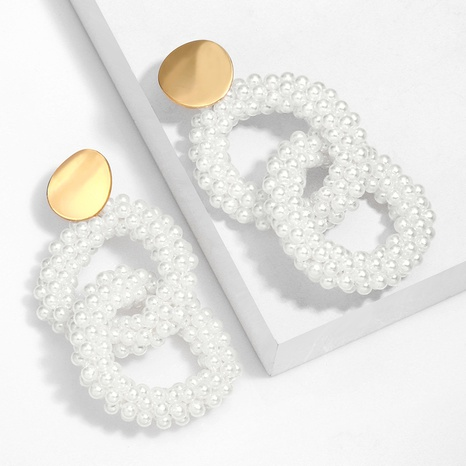 Fashion handmade miyuki beads round alloy earrings wholesale NHAS345804's discount tags