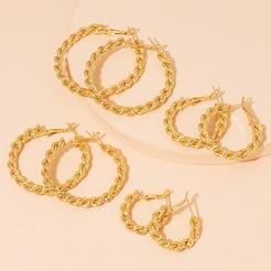 Mode geometrische Twist Circle Legierung Ohrringe Großhandel NHAI345818