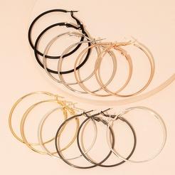 Mode geometrische große Kreis Legierung Ohrringe Großhandel NHAI345820