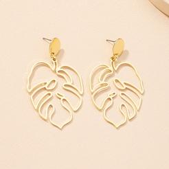 Mode symmetrische Blattlegierung Ohrringe Großhandel NHAI345825