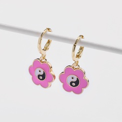 Mode neuen Stil Blume Yin Yang Öltropfen Ohrringe NHLU345845
