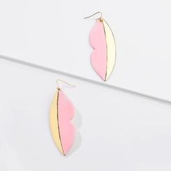 Mode New Style Sprühfarbe Metall Lippen übertrieben große Ohrringe NHLU345855