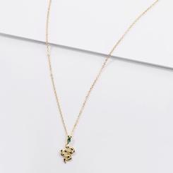 neue Mode Stil einfache Schlange Anhänger Halskette NHLU345856