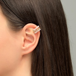 Mode neuen Stil einfache Perle Ohrclip NHLU345863