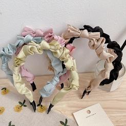Koreanische einfarbige geknotete Stoff Schleife Stirnband Großhandel NHHI345878