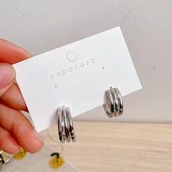 Koreanische geometrische Silberlegierung Ohrringe Großhandel NHHI345882