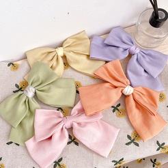 Koreanische neue Mode einfarbige Schleife Haarspange NHHI345885