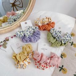 Neue koreanische Mode Kontrastfarbe gepaart Handtuch Haar Haargummis Set NHHI345886