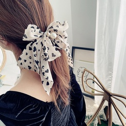 Koreanische neue Mode Satin Bogen Hahnentritt geometrische Druck Haarspange NHHI345887
