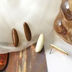 Mode lange ovale Tropföllegierung Ohrringe Großhandel NHBY345896