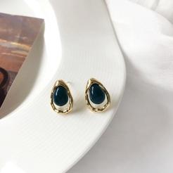 Mode unregelmäßige Metall Wassertropfen Legierung Ohrringe Großhandel NHBY345907