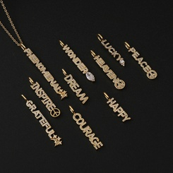 neue mikro-eingelegte Zirkon-Anhänger-Halskette aus Kupfer im Modestil NHBU345910