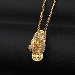 Mode New Copper Zircon Slipper Anhänger Diamant Halskette NHBU345912