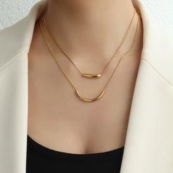 Mode geometrische Titan Stahlkette im Großhandel NHOK345915