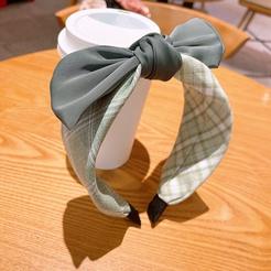 Koreanische einfarbige Schleife breites Stirnband Großhandel NHHD345927