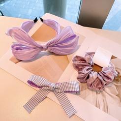 Korea Bogen einfarbig Stirnband Haarseil Set Großhandel NHHD345942