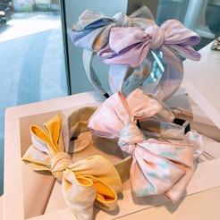 Fashion Splash Ink Tie-Dye breiten großen Bogen Stirnband Großhandel NHHD345943