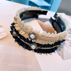 Mode Strass gefaltete Perle Stirnband Großhandel NHHD345944