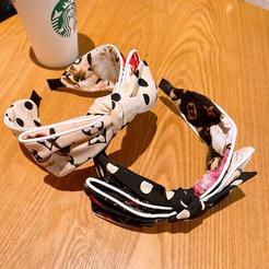 Korea Blumen Tupfen Doppelbogen Stirnband Großhandel NHHD345950