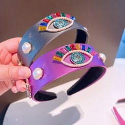 Modefarbe Diamanten Augen breites Stirnband Großhandel NHHD345952