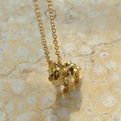Mode Baustein Spielzeug niedlichen kleinen Löwen Tier Titan Stahlkette Großhandel NHAB345957