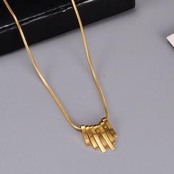 Mode kleine quadratische Titan Stahlkette im Großhandel NHAB345962
