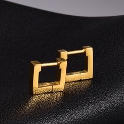 Großhandel einfache quadratische Ohrringe aus Titanstahl NHAB345963