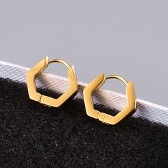 Großhandel Mode geometrische Titan Stahl Ohrschnalle NHAB345976
