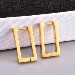 Großhandel Mode geometrische rechteckige Titan Stahl Ohrringe NHAB345980