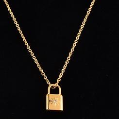 Mode Astral Lock Achtzackige Stern Titan Stahlkette Großhandel NHAB345984