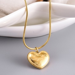 Koreanische Liebe Sie Brief Herzform Titan Stahlkette Großhandel NHAB345987