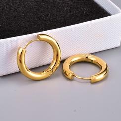 Großhandel einfache Kreis glänzende Titan Stahl Ohrringe NHAB345991