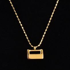 Koreanische sternenklare kleine goldene Schloss Titan Stahlkette Großhandel NHAB345998