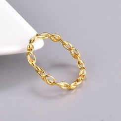 Großhandel Korean Knotted Heart Titan Stahlring NHAB346015